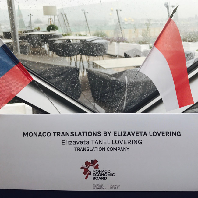 Monaco Translations by Elizaveta Lovering