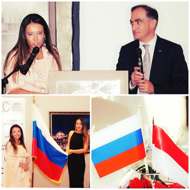 Diner économique Monaco-Russie - interprétation - M. Jean CASTELLINI, Conseiller de Gouvernement - Ministre des Finances et de l'Économie de la Principauté de Monaco