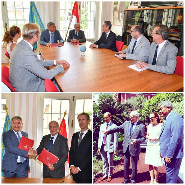 Signature d'une Convention entre la Fondation Prince Albert II de Monaco et le Centre International des technologies vertes et des projets d'investissements du Kazakhstan